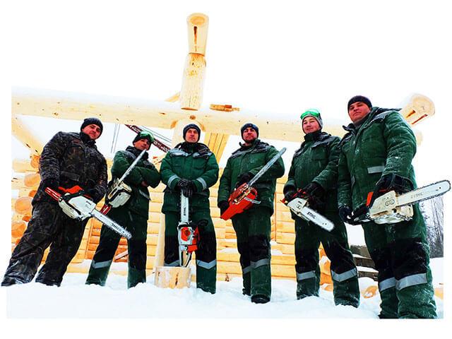 Команда плотников компании Керка