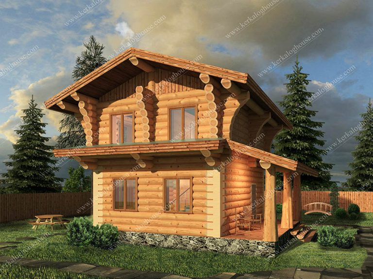 Дом красивый бревенчатый сруб
