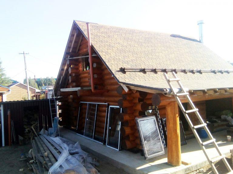 Бревенчатый гостевой дом канадская рубка в Коми КЕРКА - Сосновка