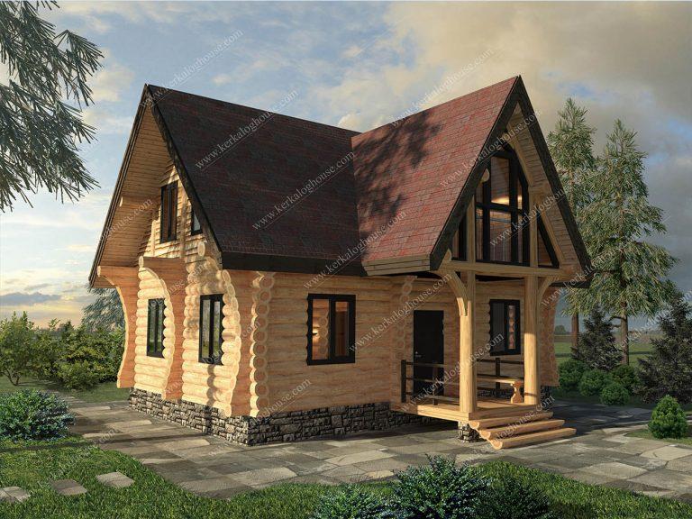 Бревенчатый дом Никола - общий вид
