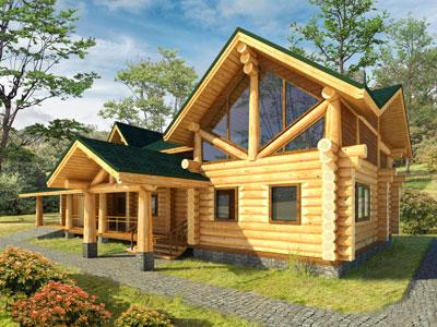 Бревенчатый дом с мансардным этажем дом5_мини