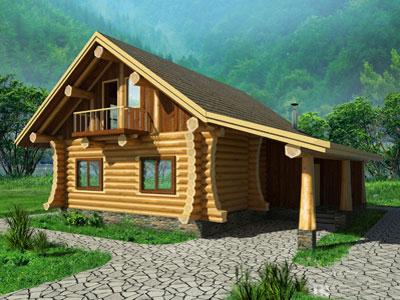 """Бревенчатый гибридный дом по проекту """"Северная Долина""""_мини"""
