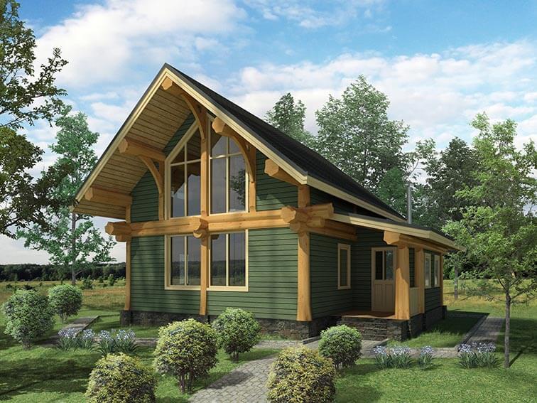 Каркасно бревенчатый дом по технологии пост бим